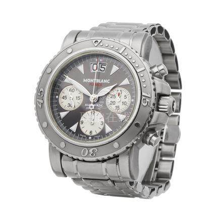 2004 Montblanc Flyback Stainless Steel - 7059