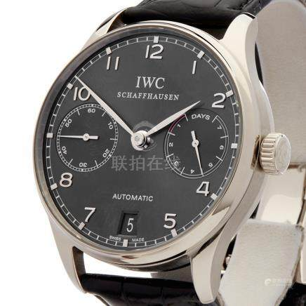 2010 IWC Portuguese 7 Day 42mm Stainless Steel - IW500106