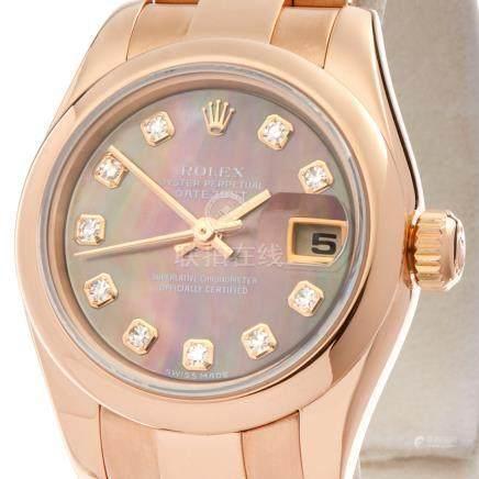 2002 Rolex Datejust 26 18K Rose Gold - 179165