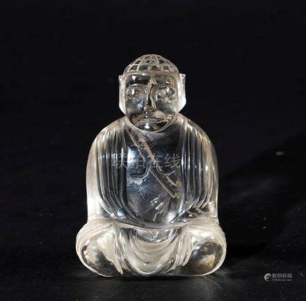 A rock crystal Buddha, China, 1900s