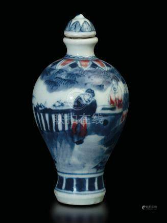 A porcelain snuff bottle, China, 1800s