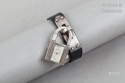 """HERMES Paris Swiss made n°913704 *Montre """"Kelly"""" en argent 925 millièmes, cadra"""