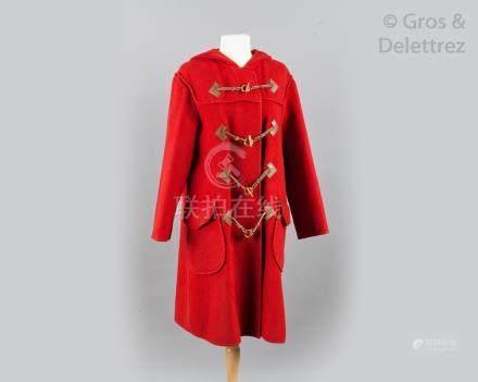 HERMES Paris Made in France *Duffle-coat à capuche en lainage cachemire double