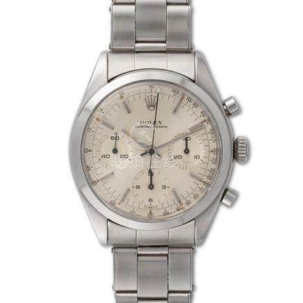 "Rolex – Chronograph ""pre Daytona"", ref. 6238, stainless stee"