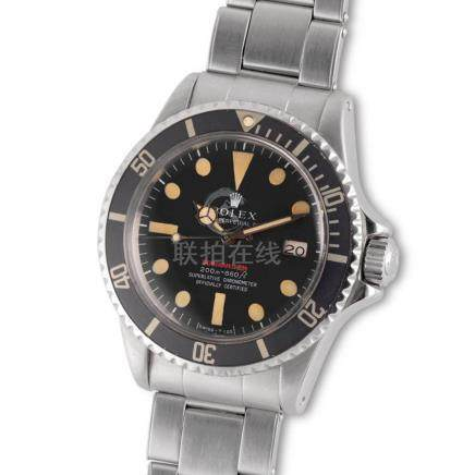 "Rolex – Very desirable, stainless steel, Submariner ""Red"", r"