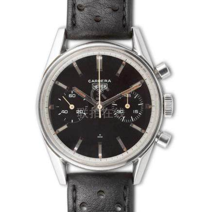 Heuer – Carrera, ref. 3647N chronograph, black dial, stainle