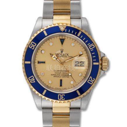 Rolex – Submariner, ref. 16613, steel & gold, sapphire and d