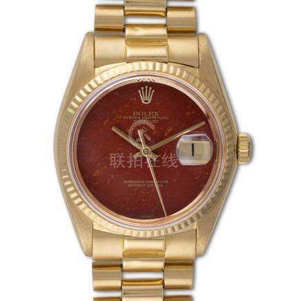 "Rolex – Datejust, ref. 1601, Red hardstone, probably ""Red Ja"