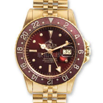 "Rolex – GMT-Master, ref. 1675, yellow-gold with a lovely ""Ch"