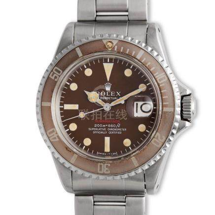 "Rolex – Very attractive, stainless steel, Submariner ""red"","