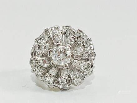 14K Gold, 1.90 Carat VVS Diamond Engagement Ring