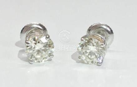 14K gold and yellow diamond earrings. 11,500 (GIA)