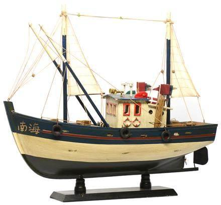 硬木南海漁船模型 (全新)