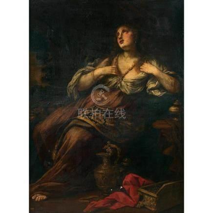 École BOLONAISE vers 1660 Marie Madeleine Bolognese school c