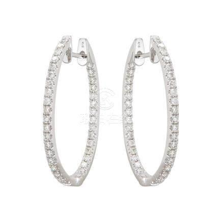 18k White Gold & Diamonds Earrings