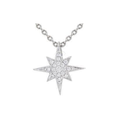 18k White Gold & Diamonds Necklace