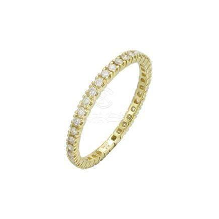 18k Yellow Gold & Diamonds Ring