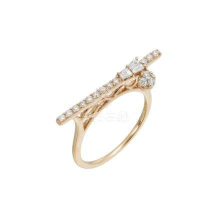 18k Rose Gold and Diamonds Ring