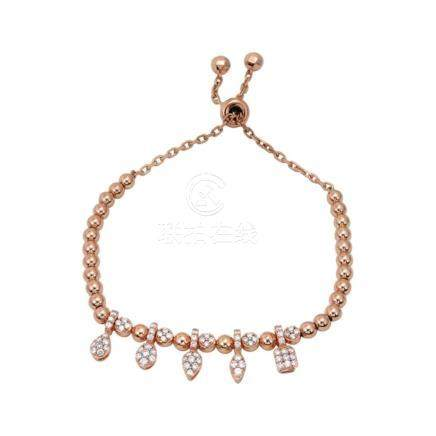 18k Rose Gold and Diamonds Necklace