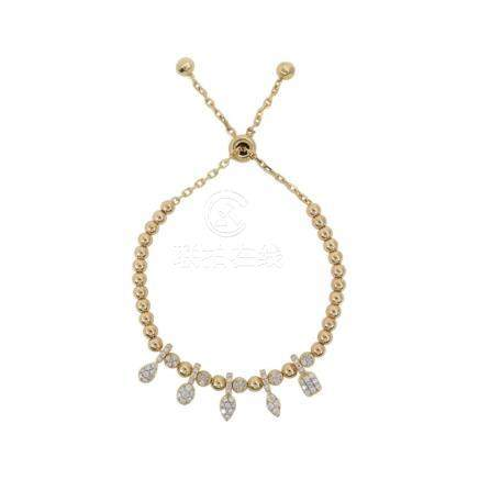 18k Yellow Gold and Diamonds Necklace