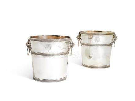 A PAIR OF ITALIAN SILVER WINE COOLERS, GUADAGNI FAMILY, FLOR