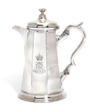 AN AUSTRO-HUNGARIAN ELECTROPLATED COFFEE POT, BERNDORF, VIEN