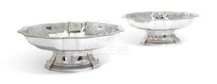 A PAIR OF FRENCH SILVER FOOTED DISHES, FRANCOIS-AUGUSTE BOYE