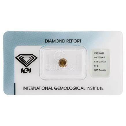 Natural Fancy color diamond, 0.76 Carat