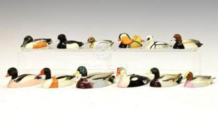 Collection of twelve Beswick figures from the Peter Scott Wild Fowl Series comprising: Mallard (
