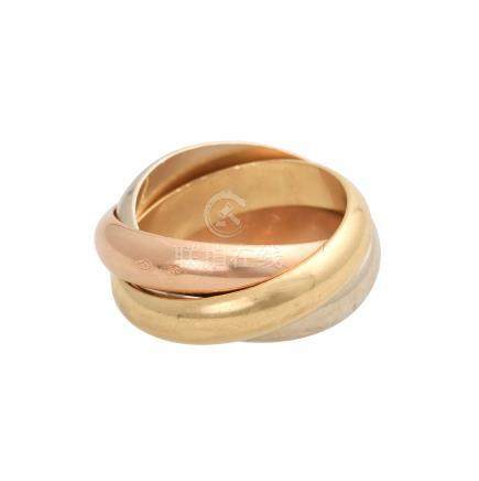 CARTIER Trinity Ring,Bandstärke 4,4 mm, GG / RG / WG 18K, RW 52, mit Tragespuren.Gewicht