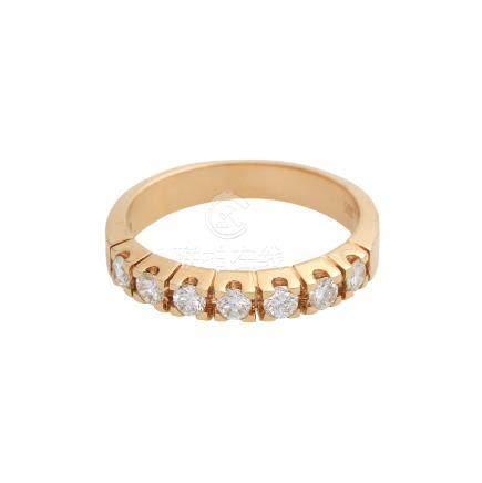 Halbmemory Ring mit Brillantenvon zus. ca. 0,6 ct, FW (G) / VVS, GG 14K, RW 57, minimale