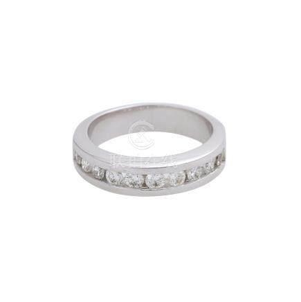 Halbmemory Ring mit Brillantenvon zus. ca. 0,5 ct, LGW (I - J) / VVS, WG 14K, RW 49, neuwertig.