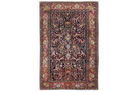 A FINE ISFAHAN RUG, CENTRAL PERSIA approx: 7ft.1in. x 4ft.9i