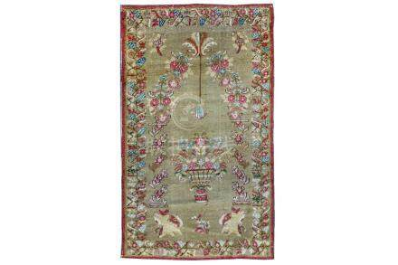 AN ANTIQUE MAJID GHIORDES PRAYER RUG, TURKEY approx: 5ft.5ft