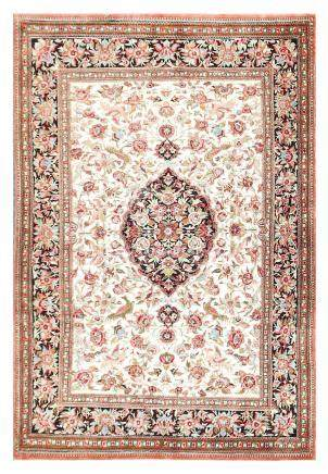 AN EXTREMELY FINE SILK QUM RUG, CENTRAL PERSIA approx: 5ft.5
