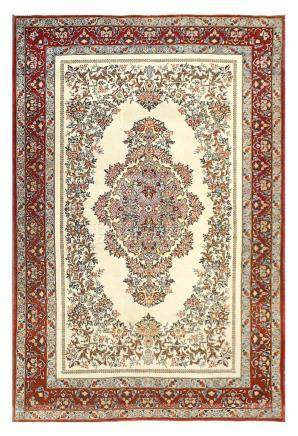 A FINE QUM RUG, CENTRAL PERSIA approx: 7ft. x 4ft.6in.(213cm