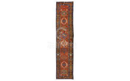 AN ANTIQUE HERIZ RUNNER, NORTH-WEST PERSIA approx: 14ft.3in.
