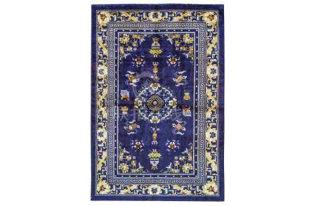 A VERY FINE SILK CHINESE RUG approx: 6ft.1in. x 6ft.1in.(185