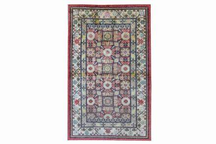 A FINE SILK KHOTAN RUG, EAST TURKESTAN approx: 6ft.10in. x 4