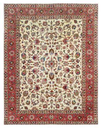 A VERY FINE PART SILK TABRIZ CARPET, NORTH-WEST PERSIA appro
