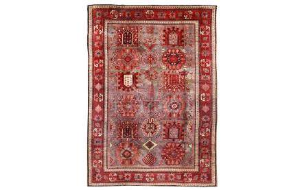 A FINE AGRA CARPET, NORTH INDIA approx; 8ft.8in. x 5ft.11in.