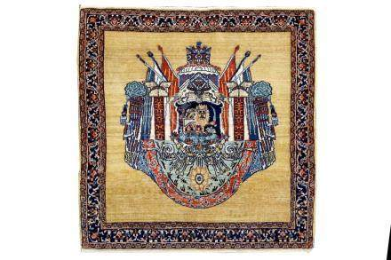 A FINE KASHKULI RUG, SOUTH-WEST PERSIA approx; 3ft.4in. x 3f