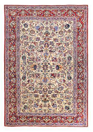 AN EXTREMELY FINE NAIN TUDESHK RUG, CENTRAL PERSIA approx: 7