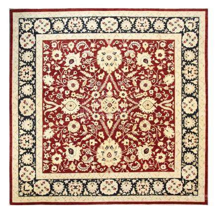 A FINE LARGE ZIEGLER DESIGN CARPET approx: 14ft.5in. x 14ft.