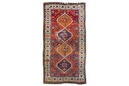 AN ANTIQUE EAST ANATOLIAN RUG, TURKEY approx: 8ft.3in. x 4ft