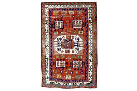 AN ANTIQUE KAZAK KARACHOPF RUG, SOUTH CAUCASUS approx: 6ft.1