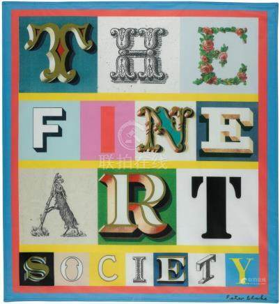 SIR PETER BLAKE, R.A. | The Fine Art Society Flag