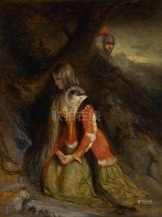 ROBERT SCOTT LAUDER, R.S.A. | A Lady and her Knight Errant,