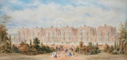 ENGLISH SCHOOL, CIRCA 1850   A Viewof Terraced Houses in Ja