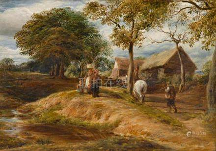 JOHN LINNELL | A View Near Hampstead